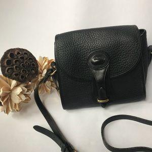 Vintage Dooney & Bourke AWL Black Messenger Bag